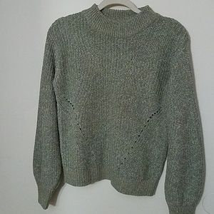 H&M mock turtleneck sweater with balloon sleeves